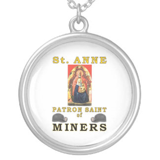 SAINT ANNE SILVER PLATED NECKLACE