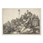 Saint Anthony Engraving by Albrecht Durer Photo