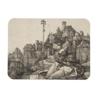Saint Anthony Engraving by Albrecht Durer Flexible Magnet
