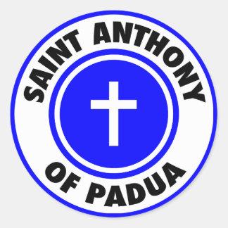 Saint Anthony of Padua Classic Round Sticker