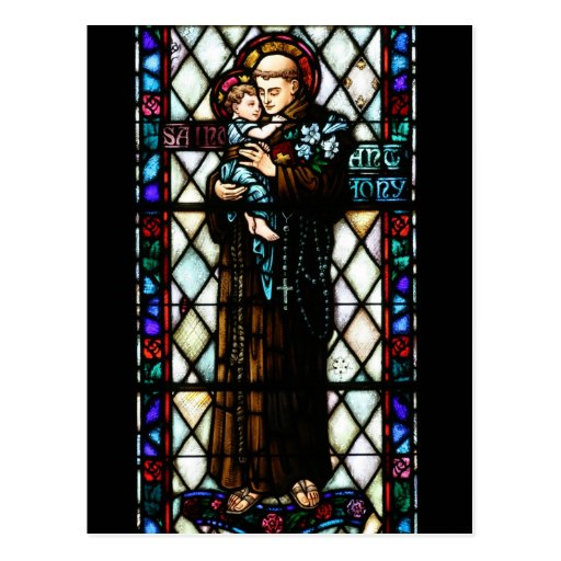 Saint Anthony of Padua Holding a Child Postcard
