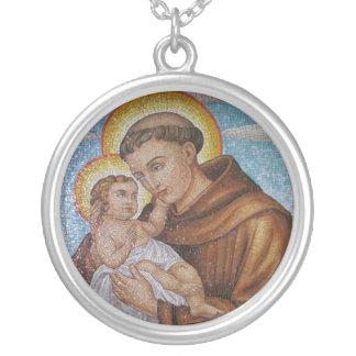 Saint Anthony - sant'Antonio - Hl. Antonius - Silver Plated Necklace