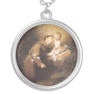 Saint Anthony - sant'Antonio - Hl. Antonius Silver Plated Necklace