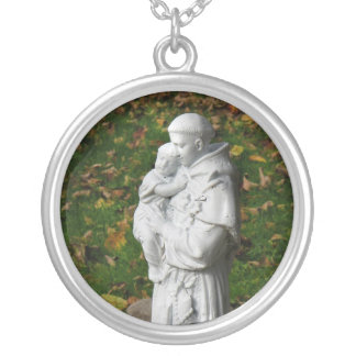 Saint Anthony Silver Plated Necklace