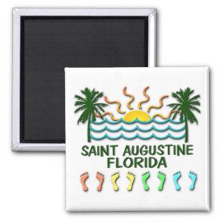 Saint Augustine Florida Square Magnet