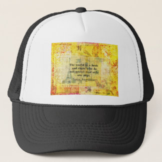 Saint Augustine Quote about Travel Trucker Hat