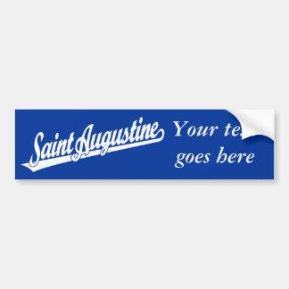 Saint Augustine script logo in white Bumper Sticker