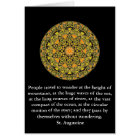 Saint Augustine travel adventure quote Card