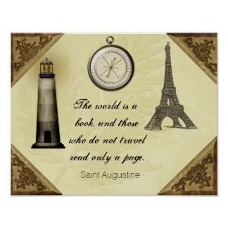 Saint Augustine Travel Quote -- Art Print