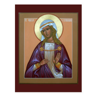 Saint Aurelia Prayer Card Postcard