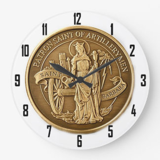 SAINT BARBARA  PATRON SAINT of ARTILLERYMEN Wall Clocks