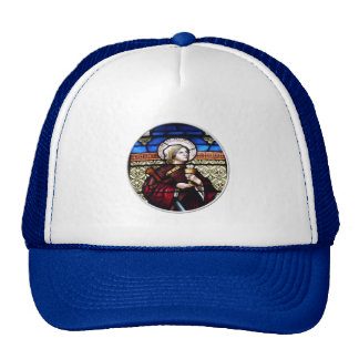Saint Barbara Stained Glass Window Cap