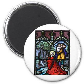 Saint Barbara's Martyrdom Stained Glass Art 6 Cm Round Magnet