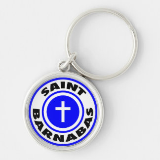 Saint Barnabas Silver-Colored Round Key Ring
