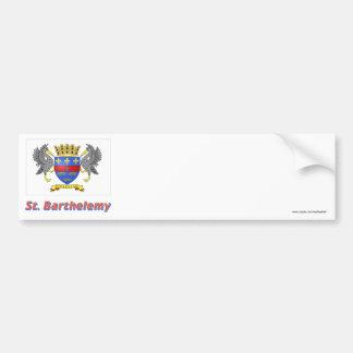Saint Barthelemy Flag with Name Bumper Sticker