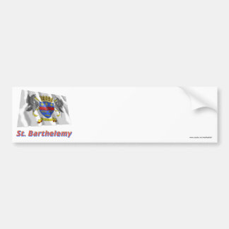 Saint Barthelemy Waving Flag with Name Bumper Stickers
