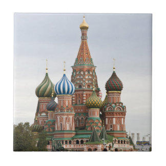 Saint Basil Cathedral. Red Square Moscow Russia Tile