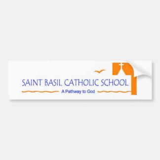 Saint Basil Catholic School Bumper Sticker Car Bumper Sticker