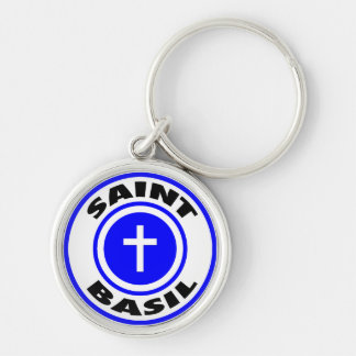 Saint Basil Silver-Colored Round Key Ring
