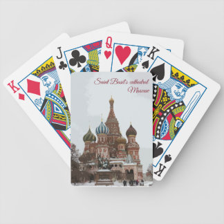 Saint Basil's cathedral_eng Bicycle Playing Cards