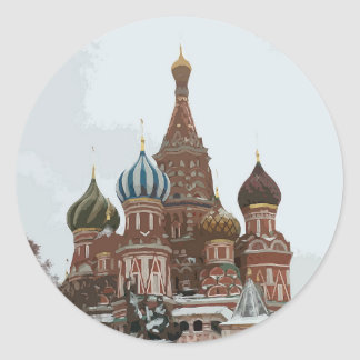 Saint Basil's cathedral_eng Classic Round Sticker