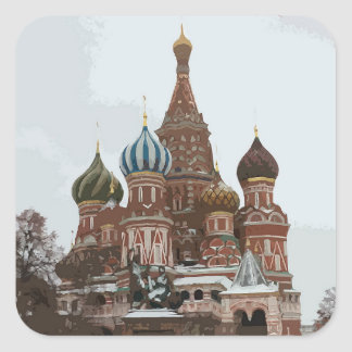 Saint Basil's cathedral_eng Square Sticker