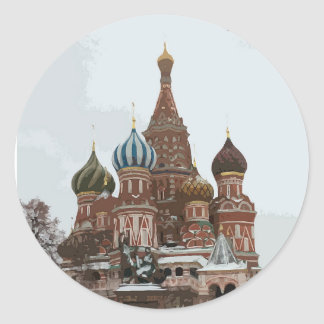 Saint Basil's cathedral_russo Classic Round Sticker