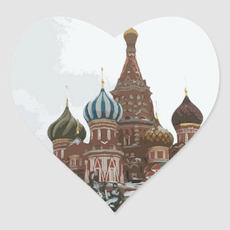 Saint Basil's cathedral_russo Heart Sticker