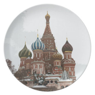 Saint Basil's cathedral_russo Plate