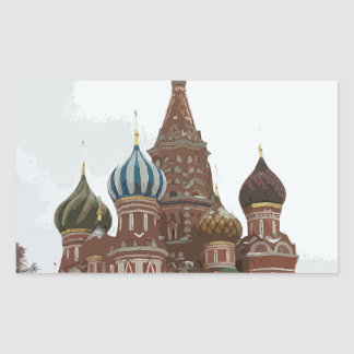 Saint Basil's cathedral_russo Rectangular Sticker