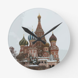 Saint Basil's cathedral_russo Round Clock