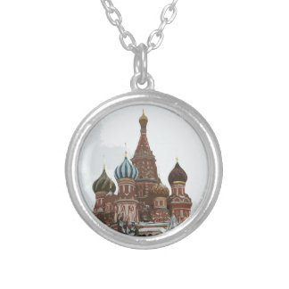 Saint Basil's cathedral_russo Silver Plated Necklace