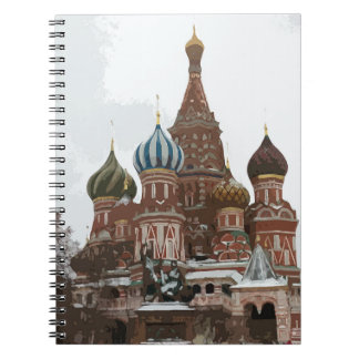 Saint Basil's cathedral_russo Spiral Notebook