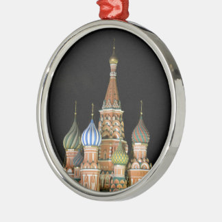 Saint Basil's Cathedral Silver-Colored Round Decoration