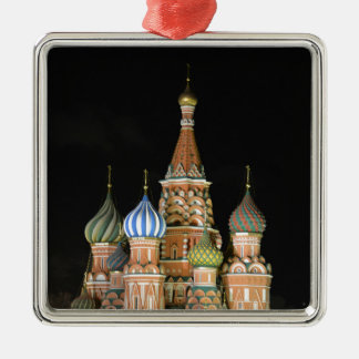 Saint Basil's Cathedral Silver-Colored Square Decoration
