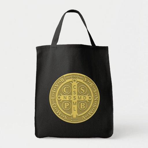 Saint Benedict Medal Gold Bag