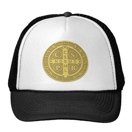 Saint Benedict Medal Gold Mesh Hat