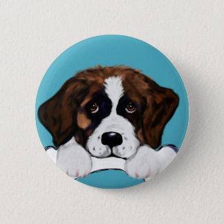 Saint Bernard 6 Cm Round Badge