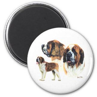 Saint Bernard 6 Cm Round Magnet