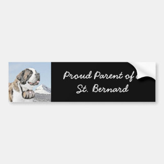 Saint Bernard Bumper Sticker