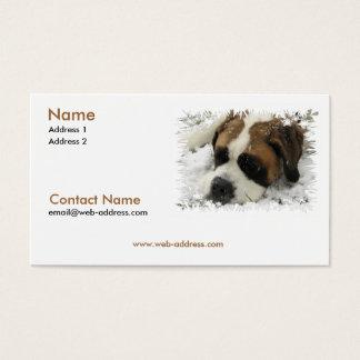 Saint Bernard Business Card