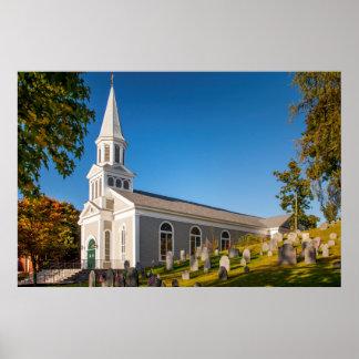 Saint Bernard Catholic Church With Old Hill Poster