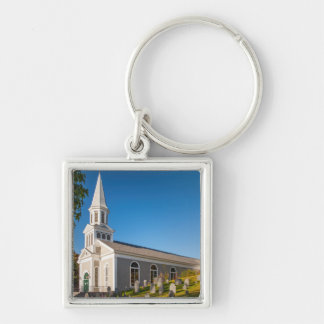 Saint Bernard Catholic Church With Old Hill Silver-Colored Square Key Ring