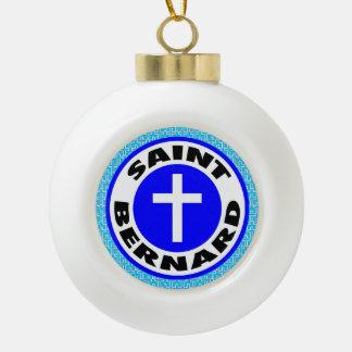 Saint Bernard Ceramic Ball Decoration