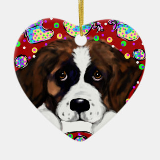 Saint Bernard Ceramic Ornament