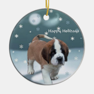 Saint Bernard Christmas Tree Ornaments