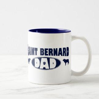 Saint Bernard Dad Two-Tone Coffee Mug