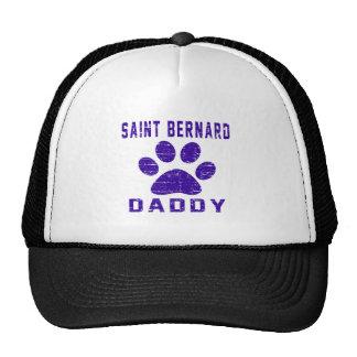 Saint Bernard Daddy Gifts Designs Cap