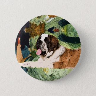 Saint Bernard Dog 6 Cm Round Badge