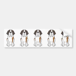 Saint Bernard Dog Cartoon Bumper Sticker